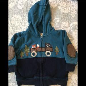 Boys Gymboree zip up hoodie